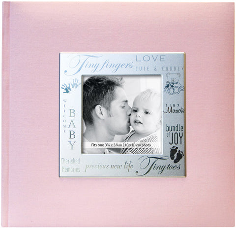 MBI Fabric Expressions Photo Album Baby Pink 8.5inx8.5in