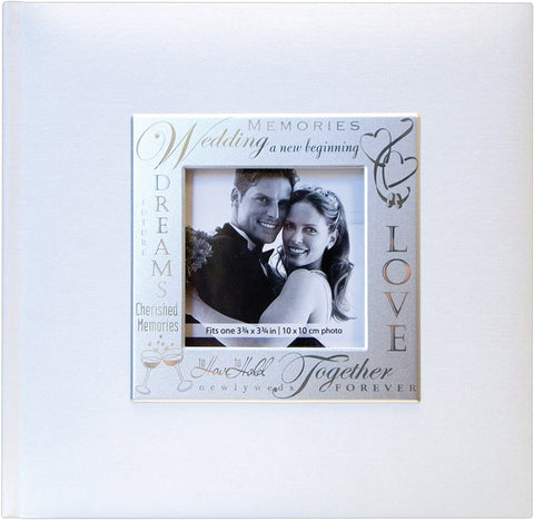 MBI Fabric Expressions Photo Album Wedding White 8.5inx8.5in