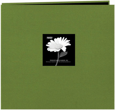 Pioneer Fabric Frame Post Bound Album Herbal Green 12inx12in