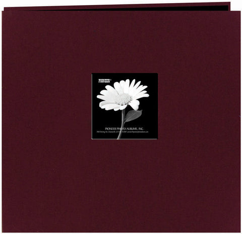 Pioneer Fabric Frame Post Bound Album Sweet Plum 12inx12in