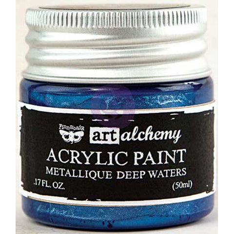 Finnabair Art Alchemy Acrylic Paint Metallique Blue