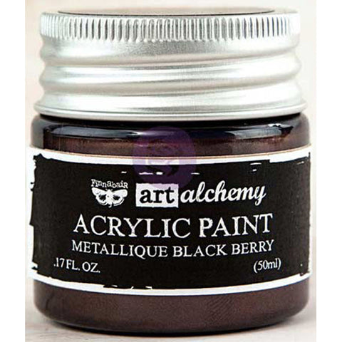 Finnabair Art Alchemy Acrylic Paint Metallique Eggplant
