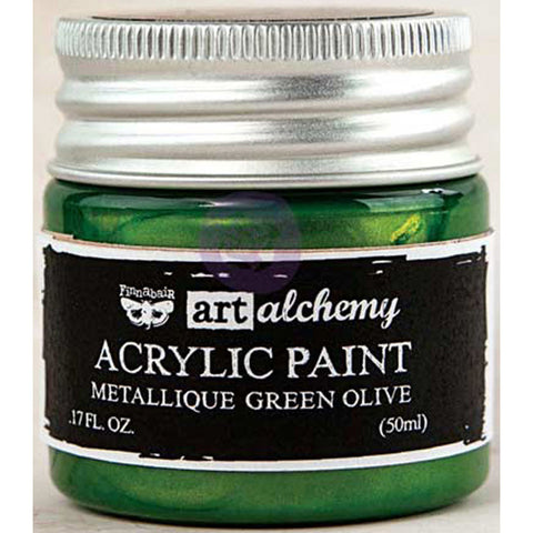 Finnabair Art Alchemy Acrylic Paint Metallique Green