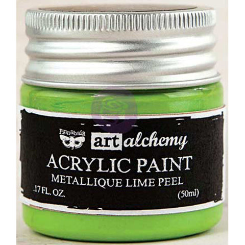 Finnabair Art Alchemy Acrylic Paint Metallique Light Green
