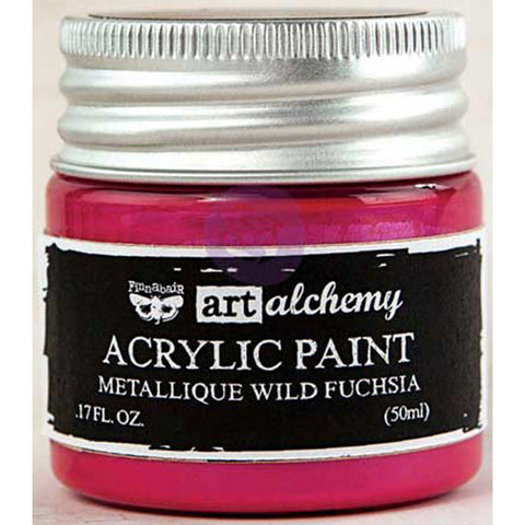 Finnabair Art Alchemy Acrylic Paint Metallique Magenta