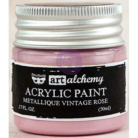 Finnabair Art Alchemy Acrylic Paint Metallique Rose