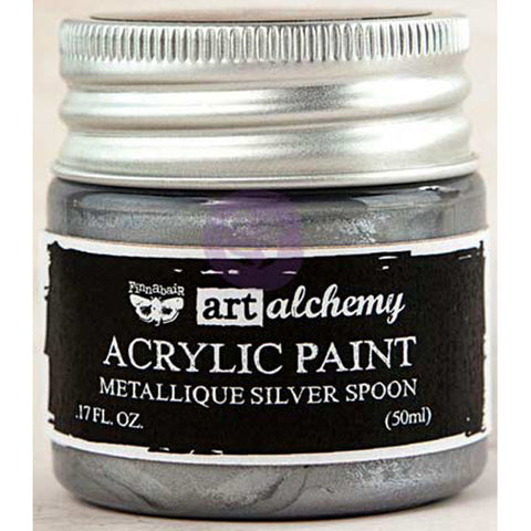 Finnabair Art Alchemy Acrylic Paint Metallique Silver