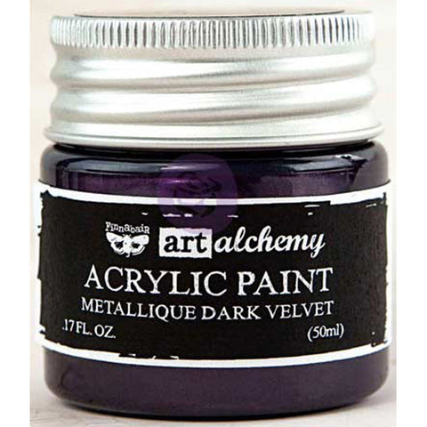 Finnabair Art Alchemy Acrylic Paint Metallique Violet