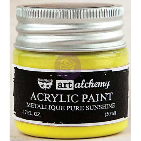 Finnabair Art Alchemy Acrylic Paint Metallique Yellow