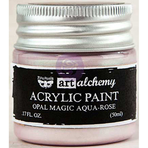 Finnabair Art Alchemy Acrylic Paint Opal Magic Aqua Rose