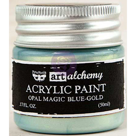Finnabair Art Alchemy Acrylic Paint Opal Magic Blue Gold