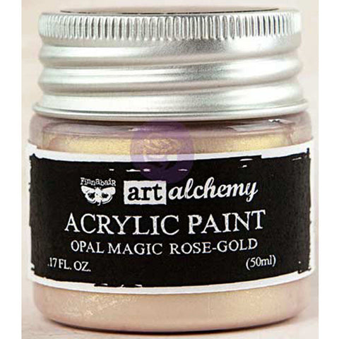 Finnabair Art Alchemy Acrylic Paint Opal Magic Rose Gold