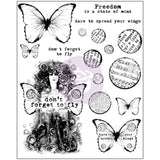 Finnabair Cling Stamps 6inx7.5in Don't Forget To Fly 6inx7.5in