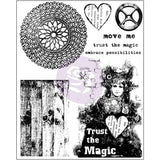 Finnabair Cling Stamps 6inx7.5in Trust The Magic 6inx7.5in