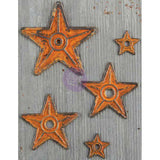 Finnabair Mechanicals Metal Embellishments Barn Stars