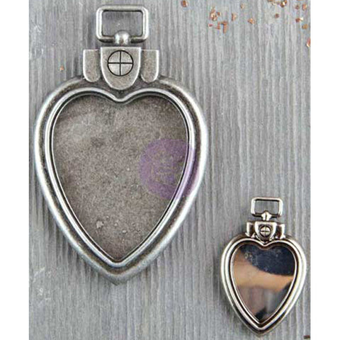 Finnabair Mechanicals Metal Embellishments Heart Locket Pendants
