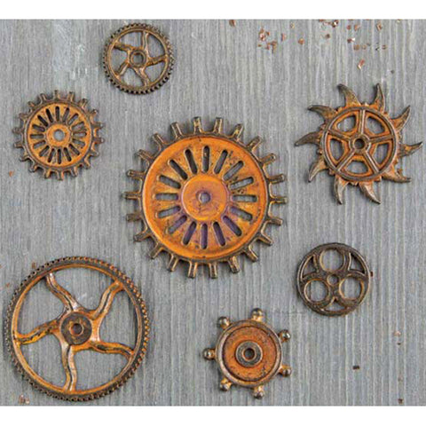 Finnabair Mechanicals Metal Embellishments Rustic Gears