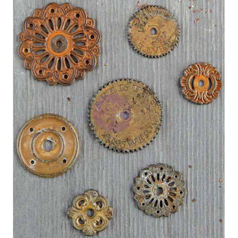 Finnabair Mechanicals Metal Embellishments Rustic Washers