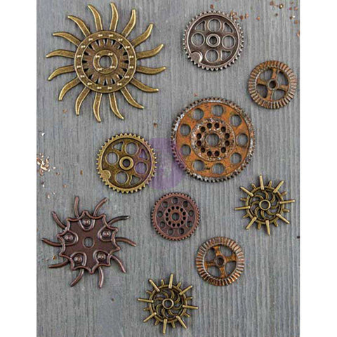 Finnabair Mechanicals Metal Embellishments Steampunk Gears