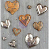 Finnabair Mechanicals Metal Embellishments Tin Hearts