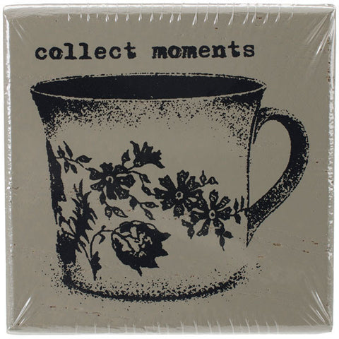 Finnabair Wood Mounted Stamps Collect Moments 2inx2in