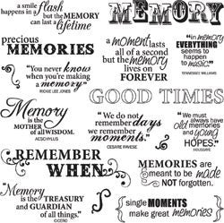 Fiskar Quote Clear Stamps Good Times 8inx8in Scrapbooking Warehouse