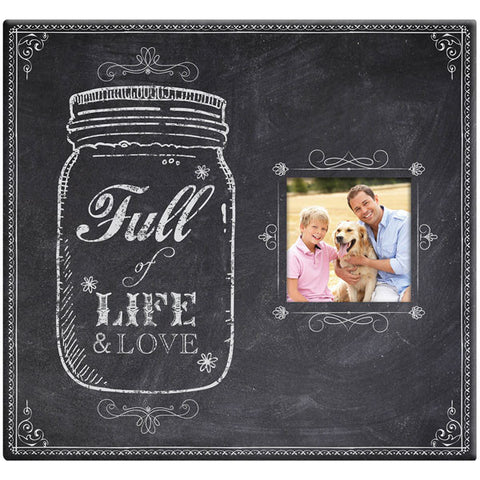 "Full Of Life Mason Jar Post Bound Scrapbook w/Window 12""x12"""