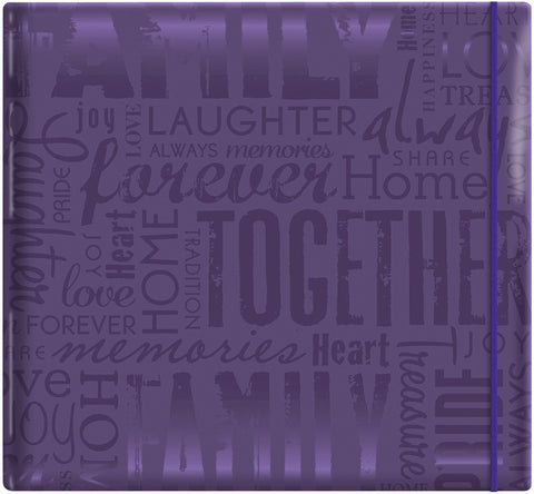 Gloss Scrapbook Live Love Laugh Deep Purple 12inx12in