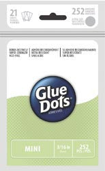 Glue Dots Clear Dot Sheets Mini .1875in 252pk