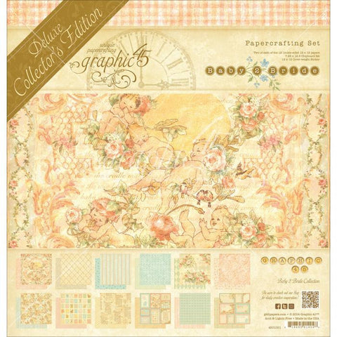 Graphic 45 Deluxe Collector's Edition Pack Baby 2 Bride 12inx12in
