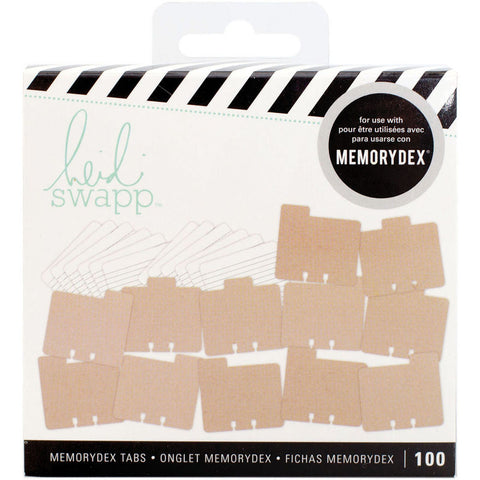 Heidi Swapp Memorydex File Cards and Tabbed Dividers Kraft