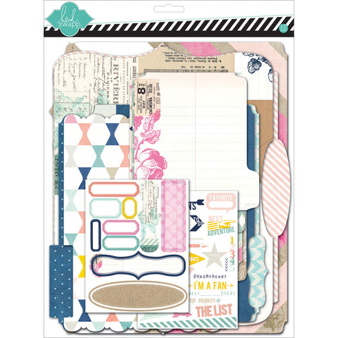 Heidi Swapp Mixed Media Scrapbook Album Kit Cardstock Memory Files