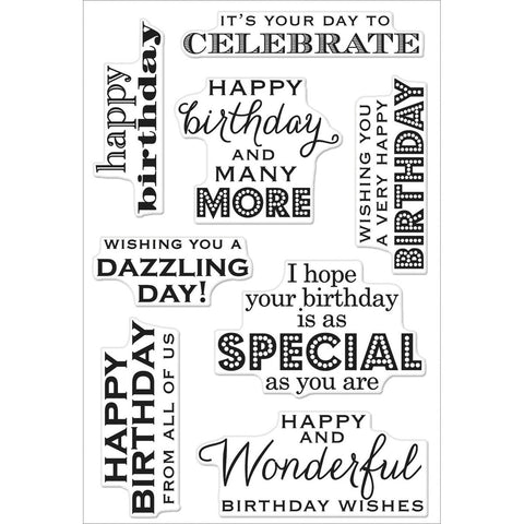 "Hero Arts Clear Stamps 4""x6"" Sheet - Birthday Wishes"