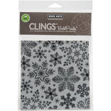 Hero Arts Cling Stamps Hand Drawn Snowflakes Bold Prints