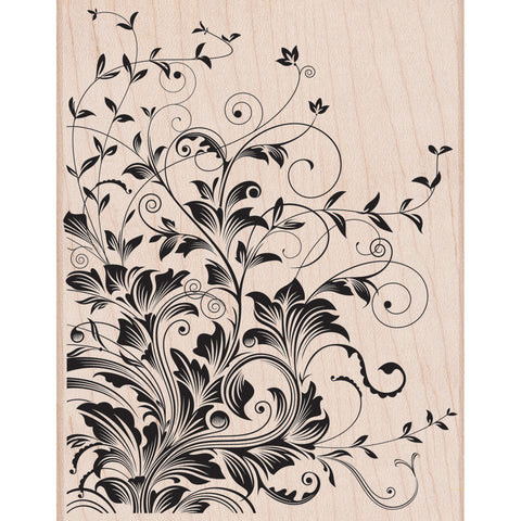 Hero Arts Mounted Rubber Stamps Leafy Vines 4.5inx3.75in