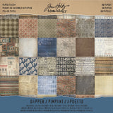 Tim Holtz Idea Ology Paper Stash Paper Pad Dapper 12inx12in