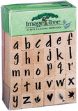 Image Tree Rubber Stamp Set Brush Letters Alphabet Lower Case