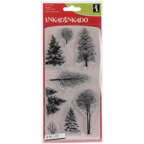 Inkadinkado Christmas Clear Stamps Woodland Wonderland