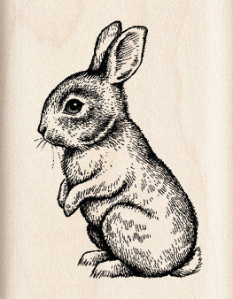 Inkadinkado Wood Mounted Rubber Stamp Baby Bunny