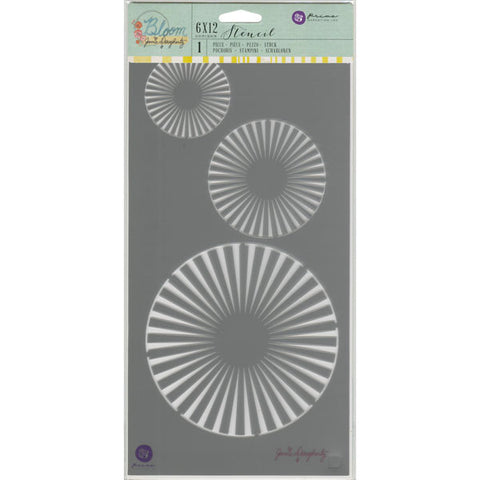 Jamie Dougherty Bloom Stencil Circles 6inx12in