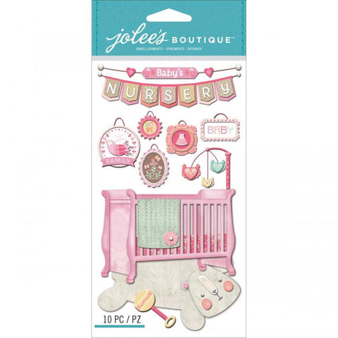 Jolee's Boutique Dimensional Stickers Baby Girl Nursery