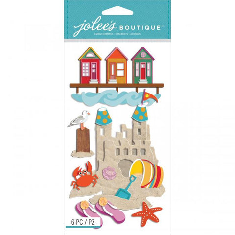 Jolee's Boutique Dimensional Stickers Beach