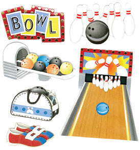 Jolee's Boutique Dimensional Stickers - Bowling Alley