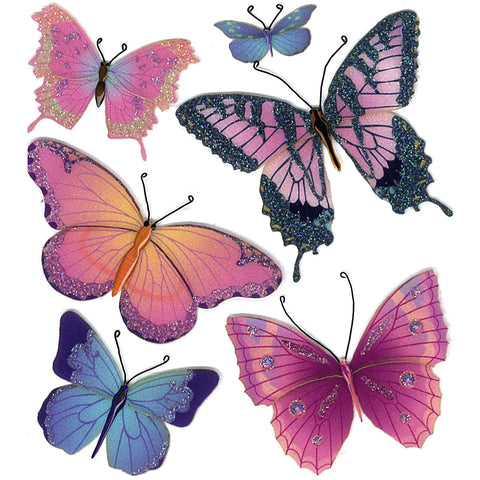 Jolee's Boutique Dimensional Stickers - Butterflies