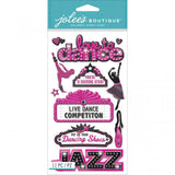 Jolee's Boutique Dimensional Stickers Dance