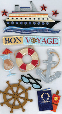 Jolee's Boutique Dimensional Stickers Bon Voyage