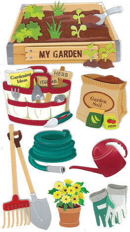 Jolee's Boutique Dimensional Stickers Gardening