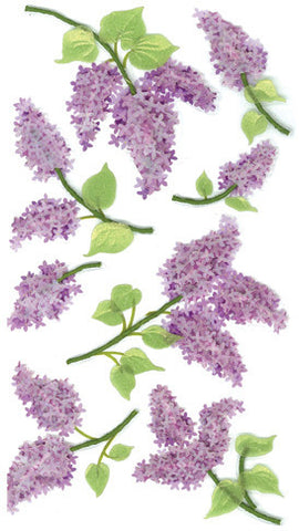 Jolee's Boutique Le Grande Dimensional Sticker - Lovely Lilacs