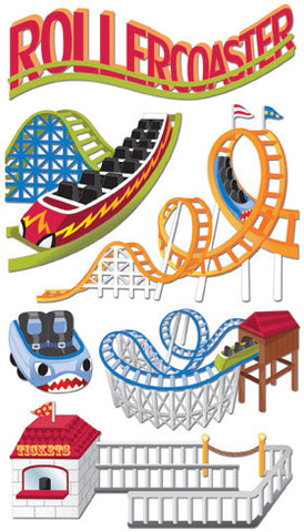 Jolee's Boutique Dimensional Stickers Roller Coasters