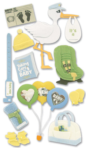 Jolee's Boutique Dimensional Stickers Baby Bringing Baby Home